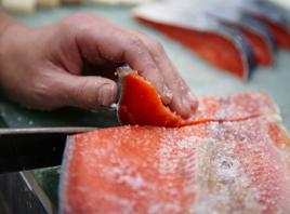 Takashimaya salmon hand cut image