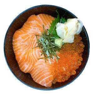 黒門三平 鮭いくら丼
